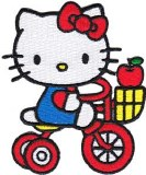 Hello Kitty Riding Tricycle Patch