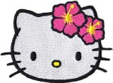 Hello Kitty Flower Head Patch