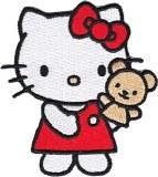 Hello Kitty Teddy Bear Patch