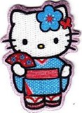Hello Kitty Kimono Blue Patch