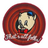Looney Tunes Porky Pig That's All Folks! Patch