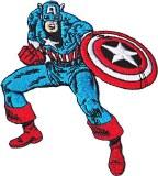 Marvel Captain America Pose Patch