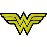 DC Glitter Wonder Woman Logo Sticker