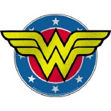 Wonder Woman Sparkly Circle Logo Sticker