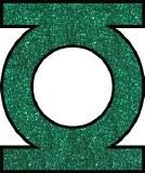 DC Green Lantern Glitter Sticker