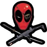 Deadpool Crossed Guns Sticker