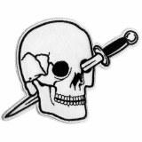 Knife Thru Head White Patch
