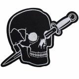 Knife Thru Head Black Patch