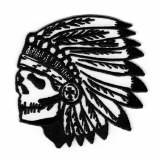 Skull Chief Black and White Pa