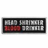 Head Shrinker Blood Drinker Black Patch