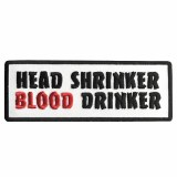 Head Shrinker Blood Drinker White Patch