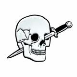 Knife Skull Pin