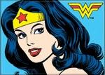 Wonder Woman Looking Over Magnet