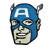 Captain America Head Patch
