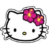Hello Kitty Flower Head Sticker