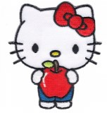 Hello Kitty Hello Sanrio Holding Apple Patch