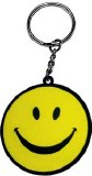 Smiley Face Rubber Keychain