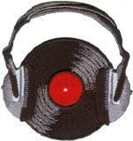 Vinyl With Headphones Patch
