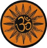 Zen Om Sun Mandala Patch