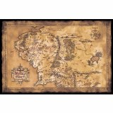 Lord of the Rings Dark Edition of the Map of Middle Earth