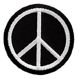 Peace BW Symbol Patch