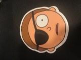 Rick and Morty Morty Eye Patch Sticker