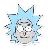Rick and Morty Tiny Rick Sticker