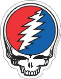 Grateful Dead Steal Your Face Die Cut Sticker