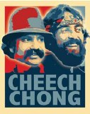 Cheech Chong Color Wash Sticker