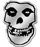 Misfits Skull 8cm Silver Metal Sticker