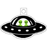 Alien In UFO Sticker