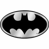 Batman Silver Metallic Sticker