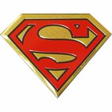 Superman Metal Logo Sticker Small