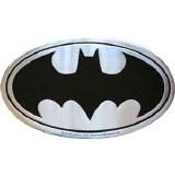 Batman Silver Metal Sticker Logo
