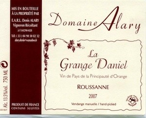 Domaine Alary La Grange Daniel Roussanne 2019
