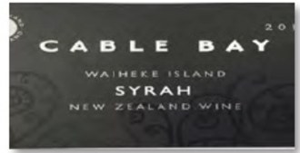 Cable Bay Syrah 2018