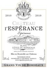 Chateau l'Esperance Blaye Cotes de Bordeaux 2015