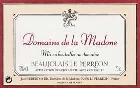 Domaine de la Madone Beaujolais Villages Nouveau 2017