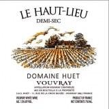Domaine Huet Vouvray Demi-Sec Le Haut-Lieu 2016