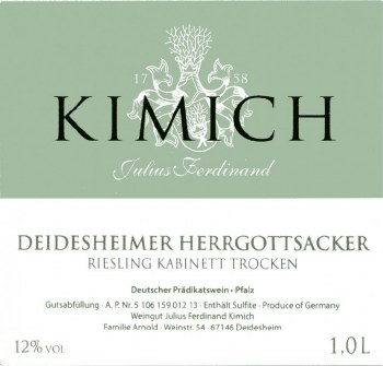 Kimich Riesling Kabinett Trocken Deidesheimer Herrgottsacker 2019