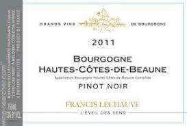 Francis Lechauve L'Eveil des Sens Hautes Cotes de Beaune 2014