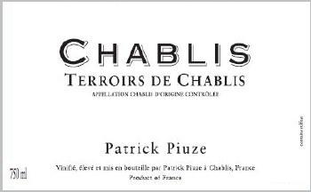 Patrick Piuze Chablis Terroir de Chablis 2019