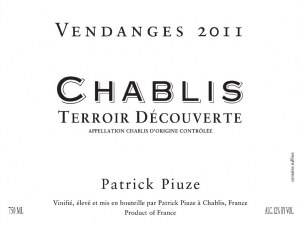 Patrick Piuze Chablis Terroir Decouverte 2015
