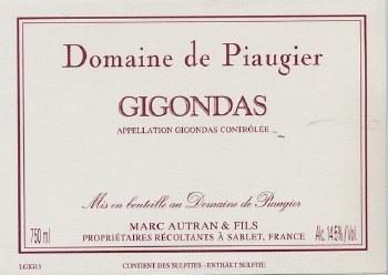 Piaugier Gigondas 2016