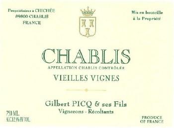 Picq Chablis Vieilles Vignes 2018