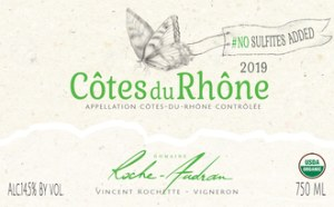 Roche-Audran Cotes du Rhone Papillon 2019