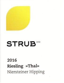 Strub Riesling Thal Nierstein Trocken 2017
