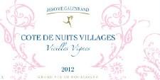 Jerome Galeyrand Cote de Nuits Villages Vieilles Vignes 2012
