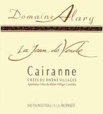Domaine Alary Cairanne La Jean de Verde 2016