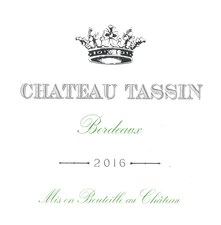 Chateau Tassin Bordeaux Blanc 3L Box 2018